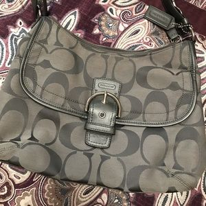 Coach Signature Flap Duffle Bag